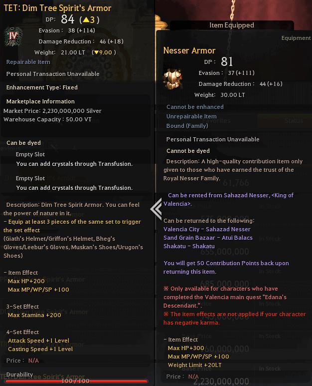 BDO Nesser Armor