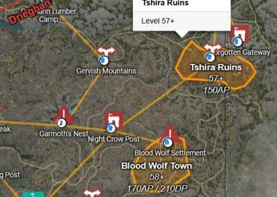 BDO Tshira Ruins Location Map