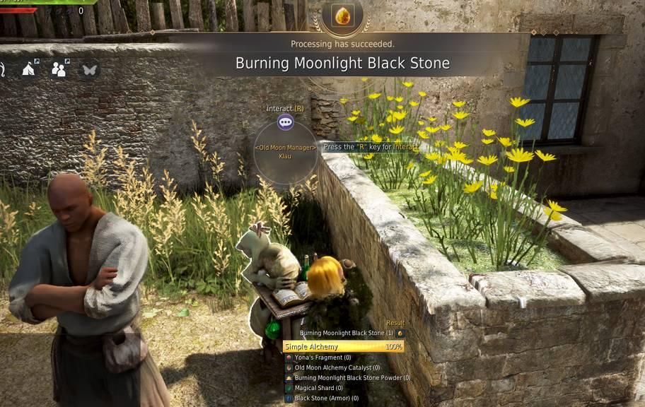 Burning Moonlight Black Stone
