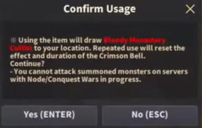 crimson bell usage