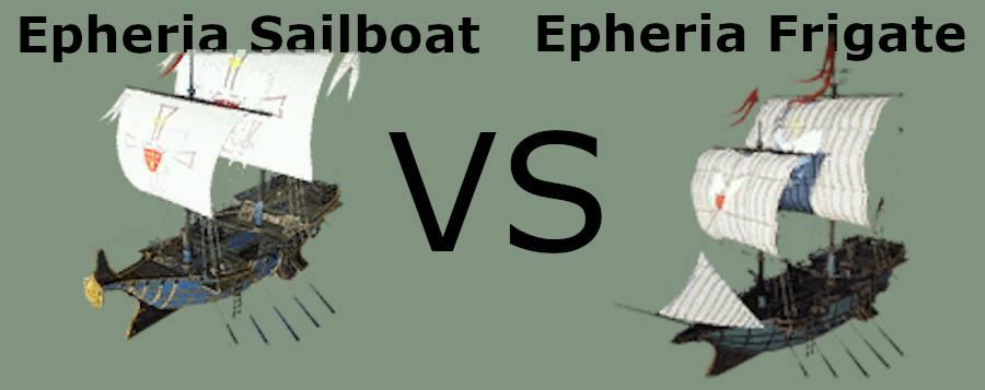 BDO Epheria Sailboat vs Frigate
