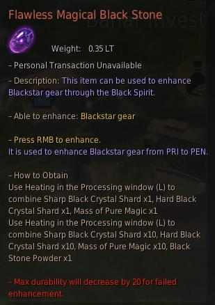 BDO Flawless Magical Black Stone for Blackstar Enhancement