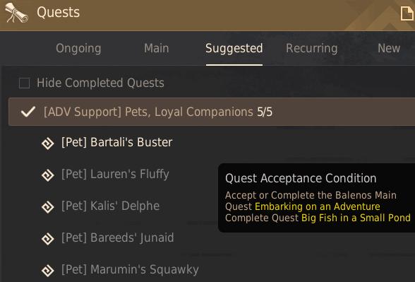 Free Pet Quests