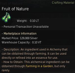 BDO Fruit of Nature