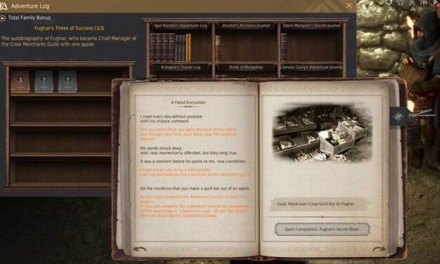 BDO Fughar's Adventure Log Bookshelf (Times of Success)