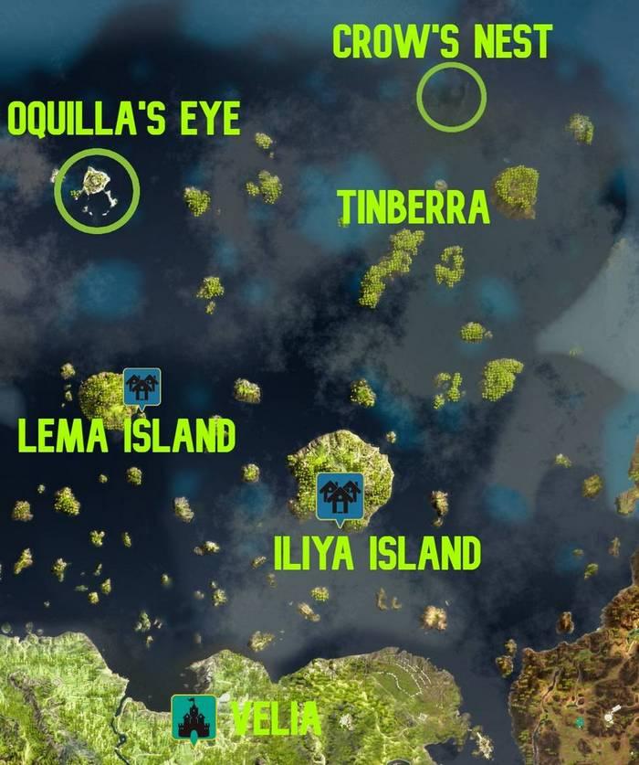 BDO Crow's Nest & Oquilla's Eye Map