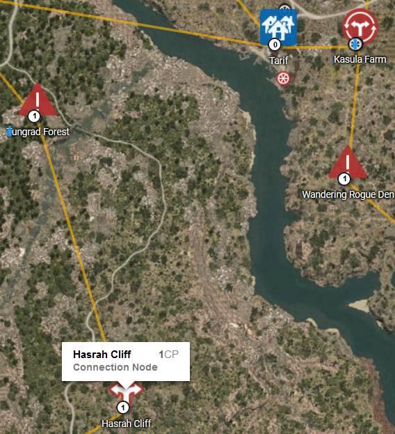 Hasrah Cliff Map: Kratuga Ruins