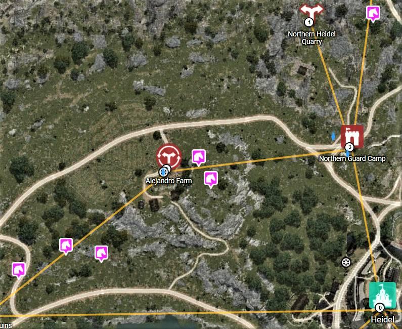 BDO Horse Locations Near Heidel