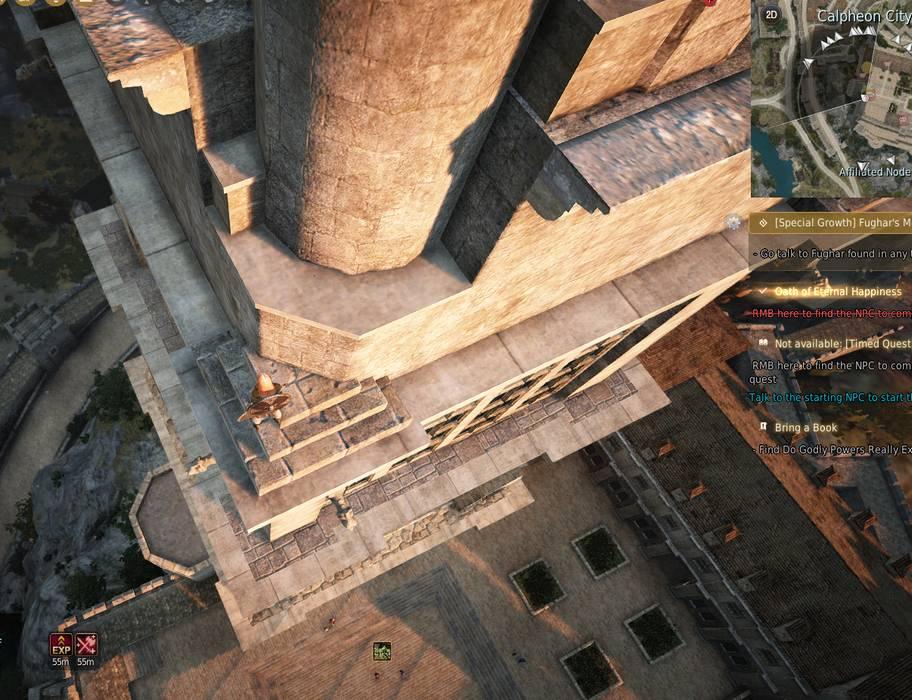 Height of Information: Tower Ledges & Platform
