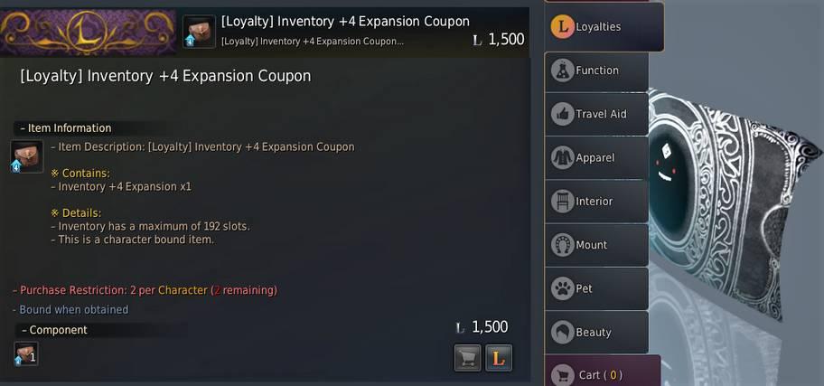 BDO Inventory via Loyalties