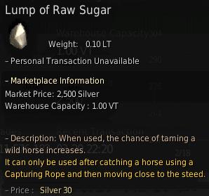 BDO Lump of Raw Sugar for Horse Taming
