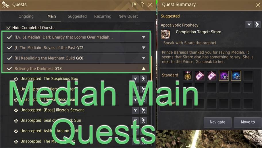 BDO Mediah Main Quest