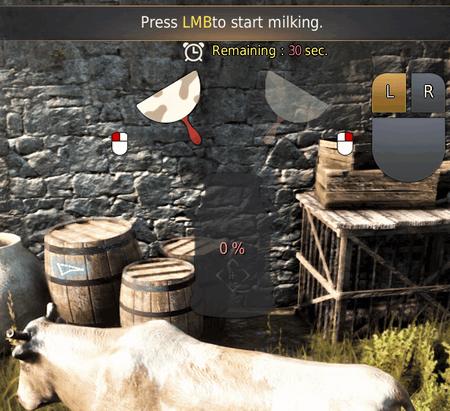 BDO Milking Minigame