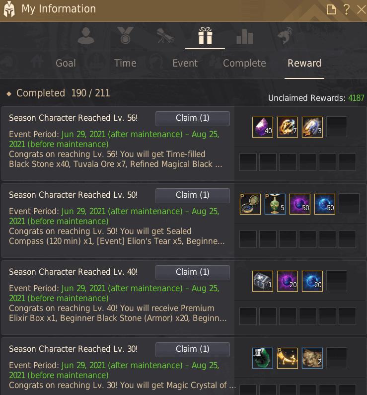 Season Challenge Rewards