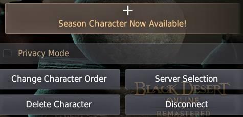 BDO Season Character Creation