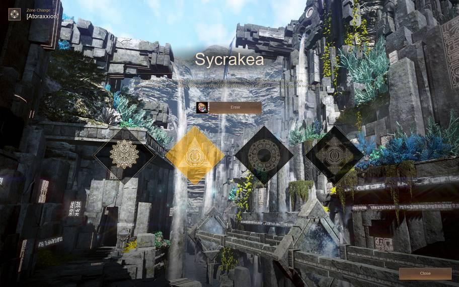 Sycrakea Entrance