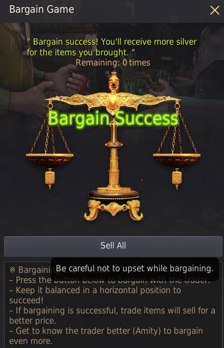 Trade Bargain Mini Game